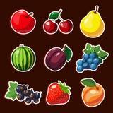 Εικονίδια φρούτων Στοκ Εικόνα