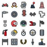 Εικονίδια φυλών αυτοκινήτων που τίθενται στο άσπρο υπόβαθρο Στοκ Εικόνα