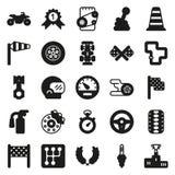 Εικονίδια φυλών αυτοκινήτων που τίθενται στο άσπρο υπόβαθρο Στοκ εικόνες με δικαίωμα ελεύθερης χρήσης