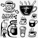 Εικονίδια φλυτζανιών καφέ Στοκ φωτογραφίες με δικαίωμα ελεύθερης χρήσης