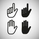 Εικονίδια χεριών, διάνυσμα Στοκ φωτογραφία με δικαίωμα ελεύθερης χρήσης