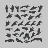 Εικονίδια χεριών Στοκ εικόνα με δικαίωμα ελεύθερης χρήσης
