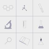 Εικονίδια χημείας Στοκ Φωτογραφία