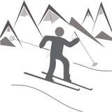 Εικονίδια χιονοδρομικών κέντρων Στοκ Φωτογραφίες