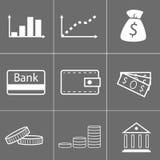 Εικονίδια χρημάτων Στοκ φωτογραφίες με δικαίωμα ελεύθερης χρήσης