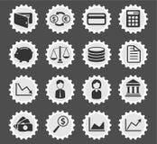 Εικονίδια χρηματοδότησης απλά Στοκ εικόνες με δικαίωμα ελεύθερης χρήσης