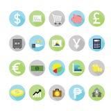Εικονίδια χρηματοδότησης που τίθενται Διανυσματική απεικόνιση