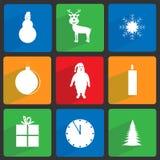Εικονίδια Χριστουγέννων καθορισμένα Στοκ εικόνες με δικαίωμα ελεύθερης χρήσης