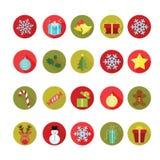 εικονίδια Χριστουγέννων που τίθενται Διανυσματική απεικόνιση
