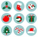 εικονίδια Χριστουγέννων που τίθενται Στοκ φωτογραφία με δικαίωμα ελεύθερης χρήσης