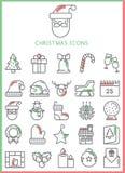 εικονίδια Χριστουγέννων που τίθενται Στοκ Φωτογραφία