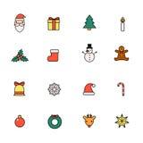 εικονίδια Χριστουγέννων που τίθενται Στοκ Φωτογραφίες