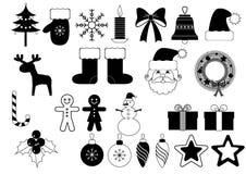 εικονίδια Χριστουγέννων Στοκ εικόνα με δικαίωμα ελεύθερης χρήσης