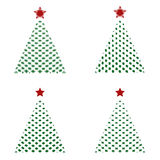 Εικονίδια χριστουγεννιάτικων δέντρων Στοκ Φωτογραφία