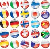 εικονίδια χωρών Στοκ Εικόνες