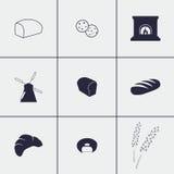 Εικονίδια ψωμιού Στοκ εικόνα με δικαίωμα ελεύθερης χρήσης