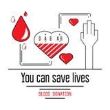 Εικονίδια δωρεάς αίματος Στοκ φωτογραφία με δικαίωμα ελεύθερης χρήσης