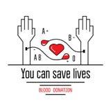 Εικονίδια δωρεάς αίματος Στοκ Εικόνα