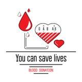 Εικονίδια δωρεάς αίματος Στοκ Εικόνες
