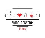 Εικονίδια δωρεάς αίματος Στοκ εικόνες με δικαίωμα ελεύθερης χρήσης