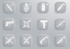 Εικονίδια όπλων απλά Στοκ Εικόνα