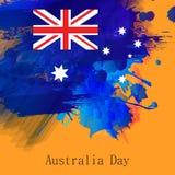 εικονίδια δώρων σημαιών ημέρας μπαλονιών της Αυστραλίας που τίθενται Στοκ φωτογραφία με δικαίωμα ελεύθερης χρήσης
