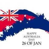 εικονίδια δώρων σημαιών ημέρας μπαλονιών της Αυστραλίας που τίθενται Στοκ Φωτογραφία