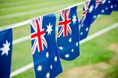 εικονίδια δώρων σημαιών ημέρας μπαλονιών της Αυστραλίας που τίθενται Στοκ Εικόνα