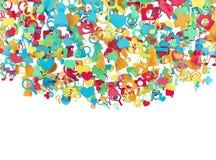Εικονίδια Διαδικτύου χρώματος Στοκ Φωτογραφίες