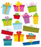εικονίδια δώρων Στοκ φωτογραφίες με δικαίωμα ελεύθερης χρήσης