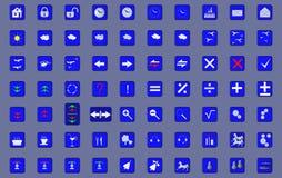 70 εικονίδια Στοκ εικόνα με δικαίωμα ελεύθερης χρήσης