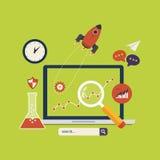 Εικονίδια analytics ιστοχώρου απεικόνιση αποθεμάτων