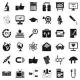 Εικονίδια Analytics καθορισμένα, απλό ύφος ελεύθερη απεικόνιση δικαιώματος