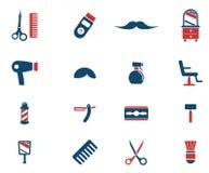 Εικονίδια Barbershop απλά Στοκ Εικόνα