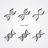 Εικονίδια DNA καθορισμένα διανυσματική απεικόνιση