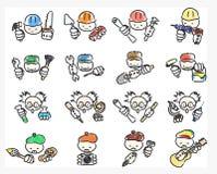 Εικονίδια Doodle των επαγγελμάτων Στοκ εικόνες με δικαίωμα ελεύθερης χρήσης