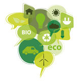 Εικονίδια Eco Στοκ φωτογραφία με δικαίωμα ελεύθερης χρήσης