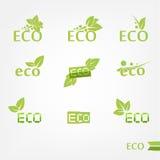 Εικονίδια Eco Στοκ Εικόνες