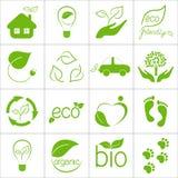 Εικονίδια Eco Στοκ εικόνα με δικαίωμα ελεύθερης χρήσης