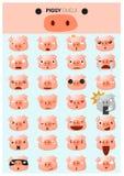 Εικονίδια emoji Piggy Στοκ εικόνα με δικαίωμα ελεύθερης χρήσης