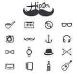 Εικονίδια Hipster ελεύθερη απεικόνιση δικαιώματος