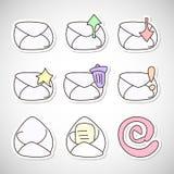 Εικονίδια Inbox και outbox ταχυδρομείου Στοκ φωτογραφία με δικαίωμα ελεύθερης χρήσης