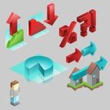 εικονίδια infographic Στοκ φωτογραφία με δικαίωμα ελεύθερης χρήσης