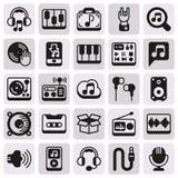 Εικονίδια MEDIA που τίθενται στο άσπρο υπόβαθρο Στοκ φωτογραφίες με δικαίωμα ελεύθερης χρήσης