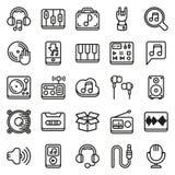 Εικονίδια MEDIA που τίθενται στο άσπρο υπόβαθρο Στοκ εικόνες με δικαίωμα ελεύθερης χρήσης