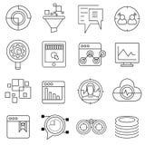 Εικονίδια Seo, εικονίδια analytics Ιστού Στοκ φωτογραφία με δικαίωμα ελεύθερης χρήσης