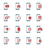 Εικονίδια Smartphone απλά Στοκ Εικόνες
