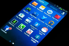 Εικονίδια Smartphone - smartphone γαλαξιών GT-S7390 Γ της Samsung στοκ φωτογραφία με δικαίωμα ελεύθερης χρήσης