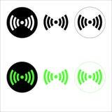 Εικονίδια WI-Fi Στοκ Εικόνες
