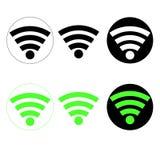 Εικονίδια WI-Fi Στοκ φωτογραφίες με δικαίωμα ελεύθερης χρήσης